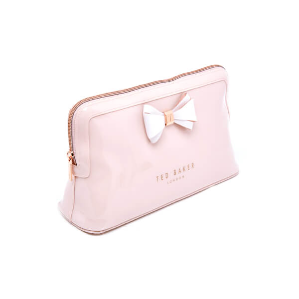 887fc451dd36 Ted Baker Women s Abbie Curved Bow Large Wash Bag - Mid Pink  Image 2