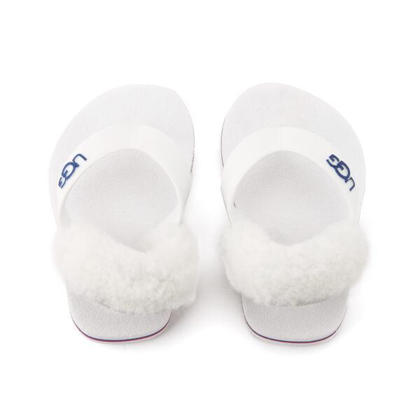 UGG Babies' Yia Yia II Sheepskin Back Toe Post Sandals - White Wall