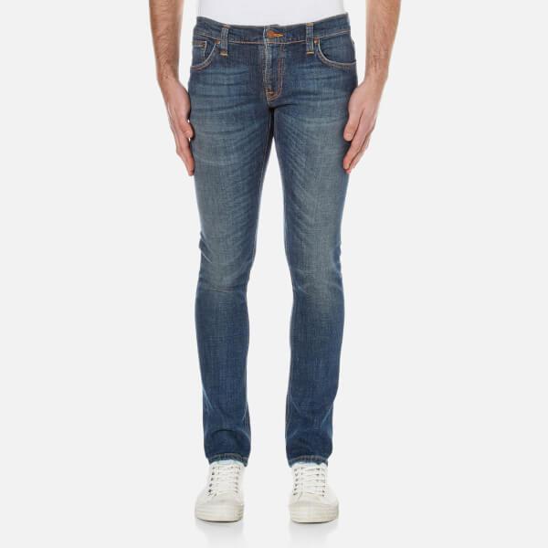 Nudie Jeans Men's Long John Skinny Jeans - Orange Tease