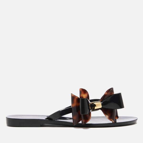 Melissa Women's Harmonic Cute Flip Flops - Black Tortoiseshell