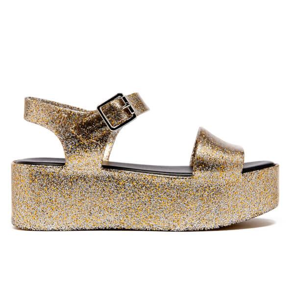 Melissa Women's Mar Flatform Sandals - Gold Glitter