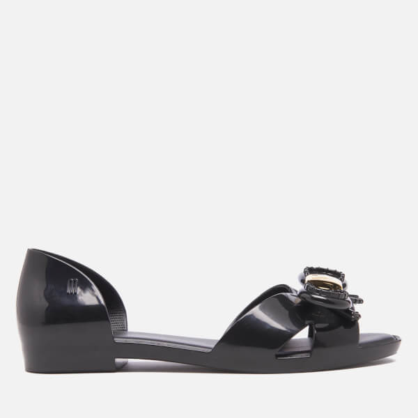 Vitorino Campos for Melissa Women's Seduction Open Toe Flats - Black