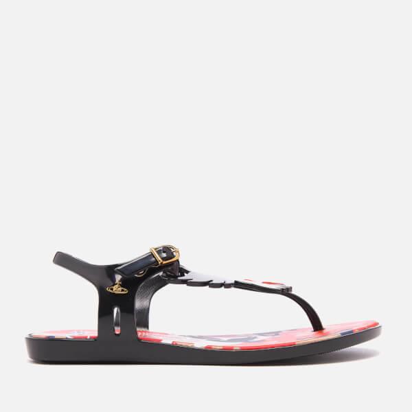 Vivienne Westwood for Melissa Women's Solar Dove T Bar Sandals - Black Gloss