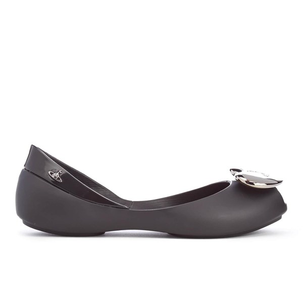 Mini Melissa Vivienne Westwood Kids' Queen Ballet Flats - Black Heart