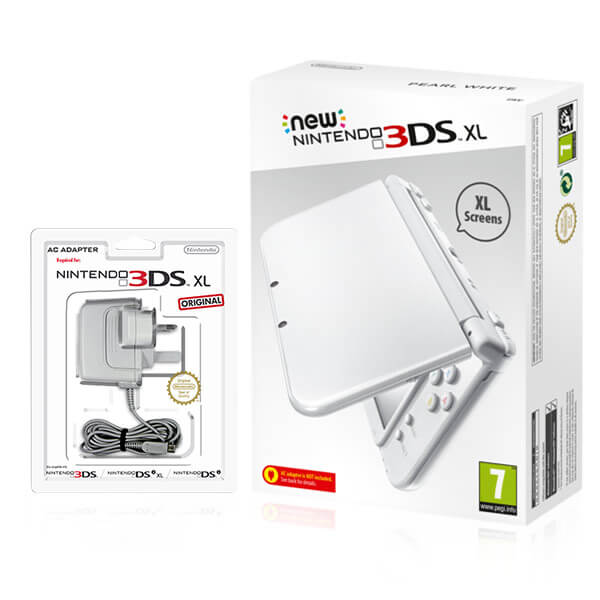 new nintendo 3ds xl pearl white nintendo official uk store. Black Bedroom Furniture Sets. Home Design Ideas