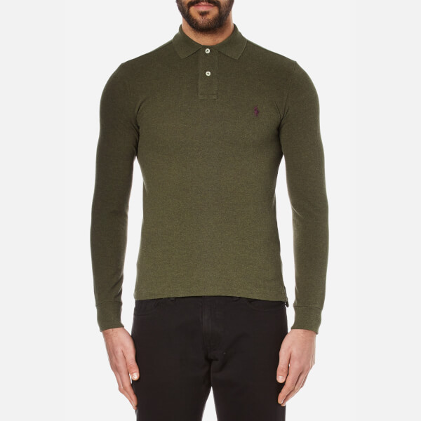 Polo Ralph Lauren Men's Long Sleeve Polo Shirt - Alpine Heather