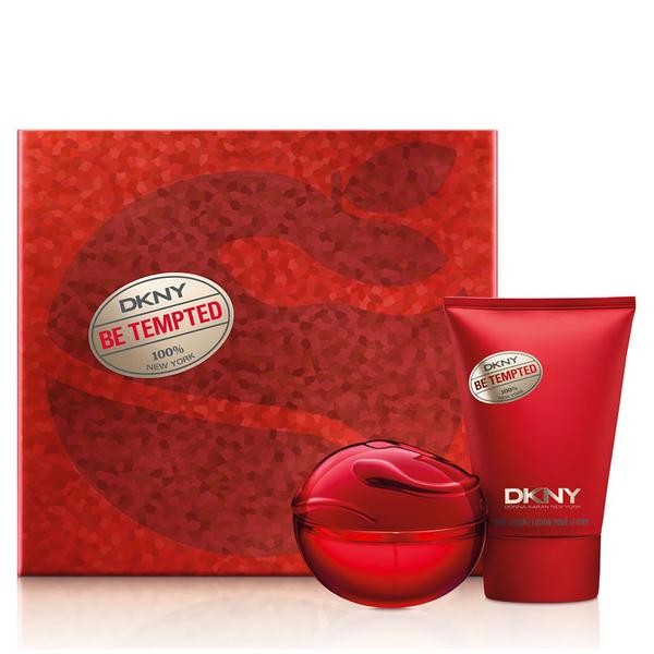 dkny be tempted eau de parfum 50ml and body lotion set. Black Bedroom Furniture Sets. Home Design Ideas