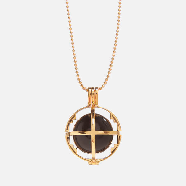 Kiki Minchin Women's The Roxy Cage Necklace - Gold/Black