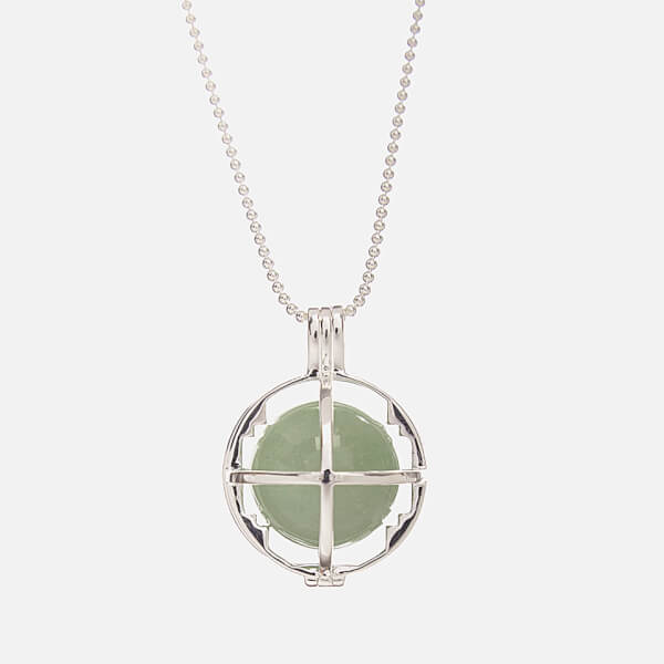 Kiki Minchin Women's The Roxy Cage Necklace - Green Aventurine/Silver