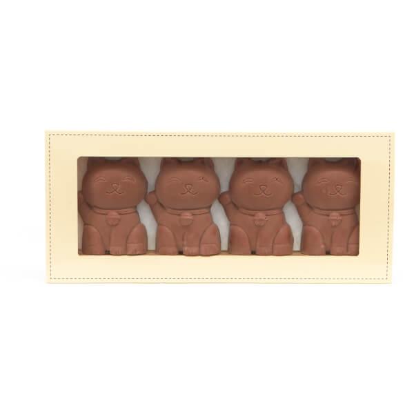 4 Chats en Chocolat au Lait