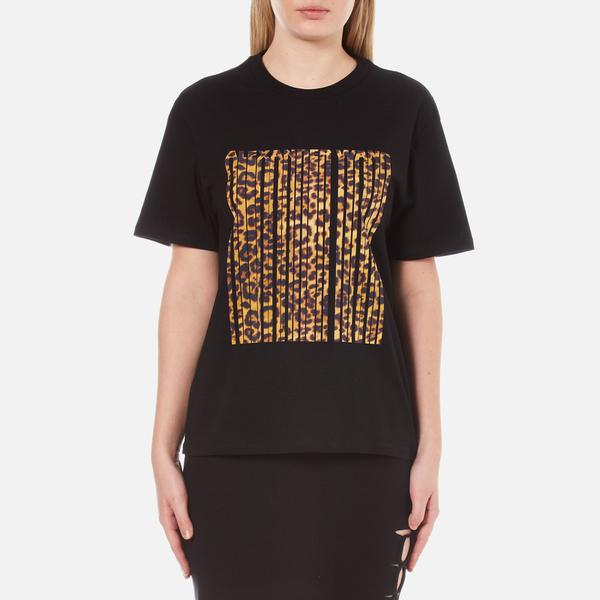 Alexander Wang Women's Bonded Barcode Boxy Crew Neck T-Shirt - Matrix