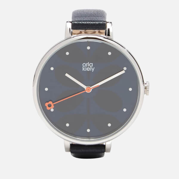Orla Kiely Women's Ivy Leather Watch - Midnight