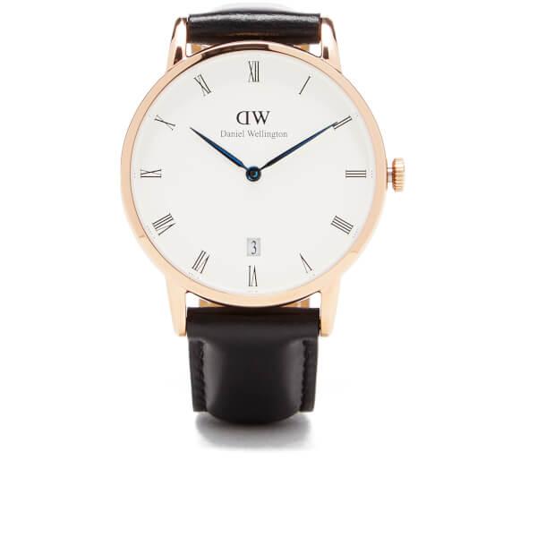 Daniel Wellington Women's Dapper Sheffield Rose Gold Watch - Black
