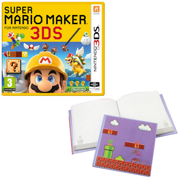 Super Mario Maker for Nintendo 3DS + Super Mario Bros. 3D Motion Notebook