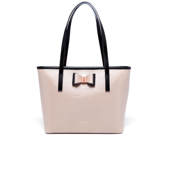 9adfd319330be Ted Baker Women s Claudia Bow Detail Small Leather Shopper Bag - Mink   Image 1
