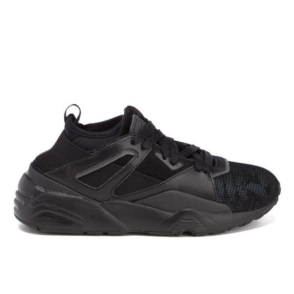 Puma Women's Blaze of Glory Sock Swan Trainers - Black/Black