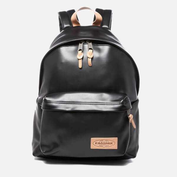 Eastpak Padded Pak'r Leather Backpack - Black Womens Accessories ...