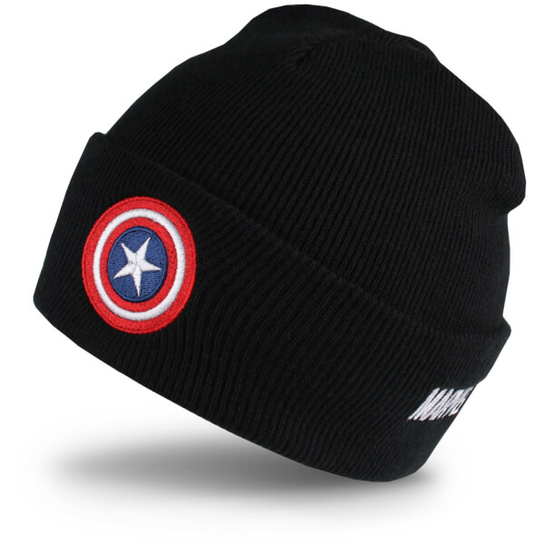 Bonnet Captain America -Noir