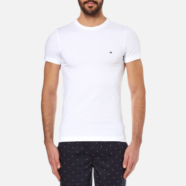 Tommy Hilfiger Men s New Stretch Crew Neck T-Shirt - Classic White  Image 1 d9ac478a96c