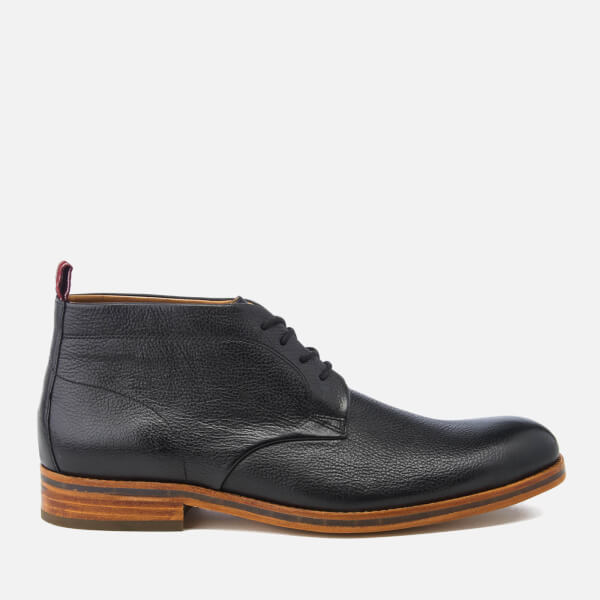 Hudson London Men's Lenin Leather Desert Boots - Black