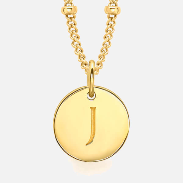 Missoma Women's Initial Charm Necklace - J - Gold
