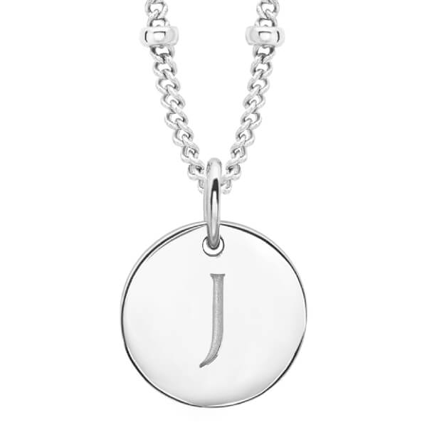 Missoma Women's Initial Charm Necklace - J - Silver