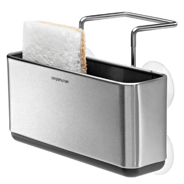 simplehuman Slim Brushed Steel Sink Caddy