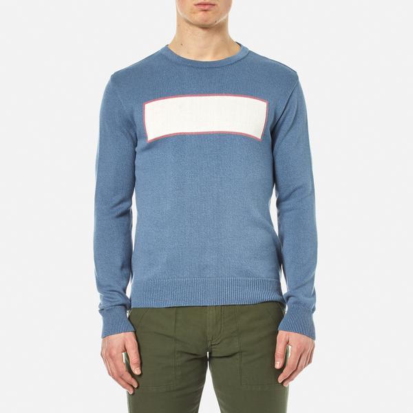 Garbstore Men's Stonewall Crew Knitted Jumper - Blue