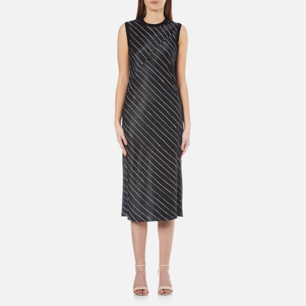 e435837c2bfe09 DKNY Women s Sleeveless Slip Dress with Seaming Detail - Black Gesso  Image  1