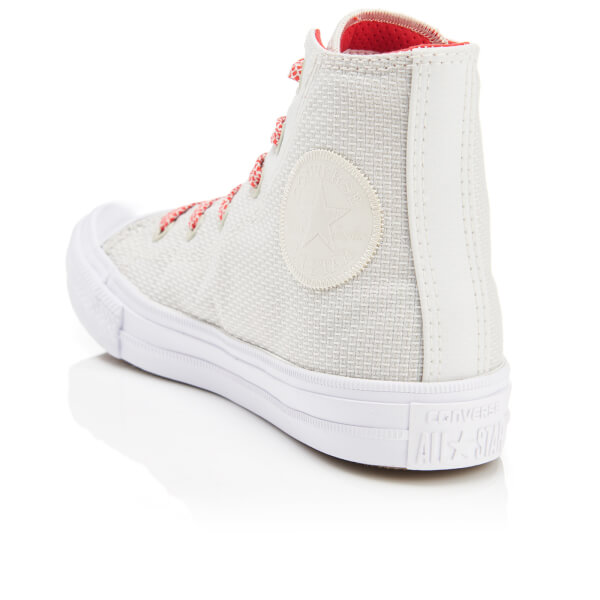 Converse Chuck Taylor All Star II Hi-Top Trainers Buff/White/Ultra Red Kids