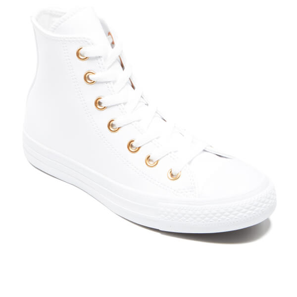 Converse Women s Chuck Taylor All Star Hi-Top Trainers - White Gold  Image 423835531