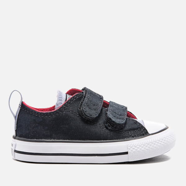 Converse Toddlers' Chuck Taylor All Star 2V Ox Trainers - Black/Blue Granite/White