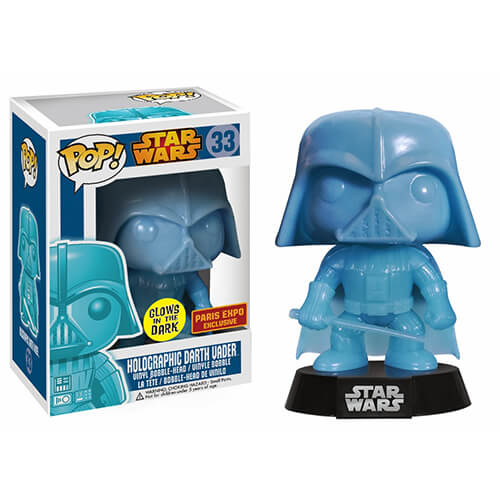 Funko GITD Holographic Darth Vader (Paris Expo) Pop! Vinyl