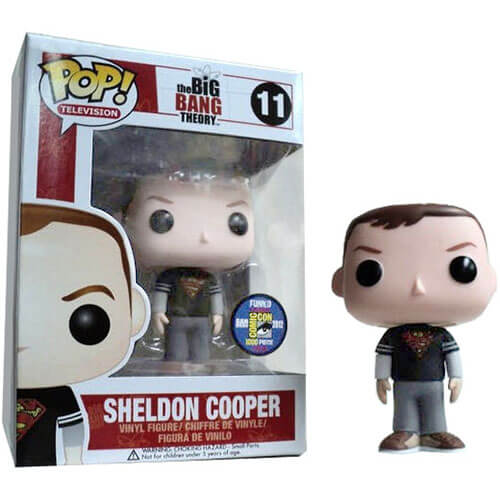 Funko Sheldon Cooper (Superman T-Shirt) Pop! Vinyl