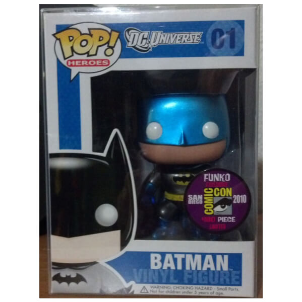 Funko Metallic Blue Retro Batman (SDCC 2010) Pop! Vinyl