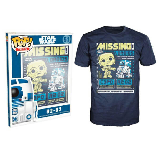 Funko Star Wars Pop! Tee Missing Droids Pop! Tees