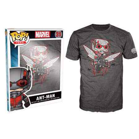 Funko L-Ant Man Pop! Tee Flying Ant Man Pop! Tees
