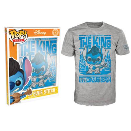 Funko Disney Lilo And Stitch Pop! Tee Elvis Stitch Pop! Tees