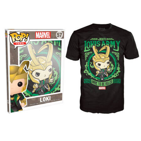 Funko Marvel Pop! Tee Lokis Army Pop! Tees