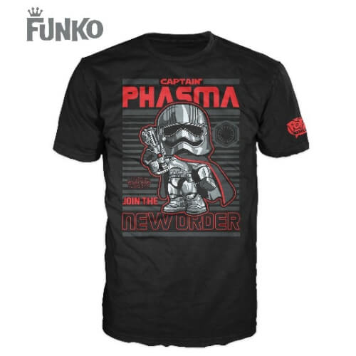 Funko XL-Star Wars Pop! Tee Captain Phasma Pop! Tees