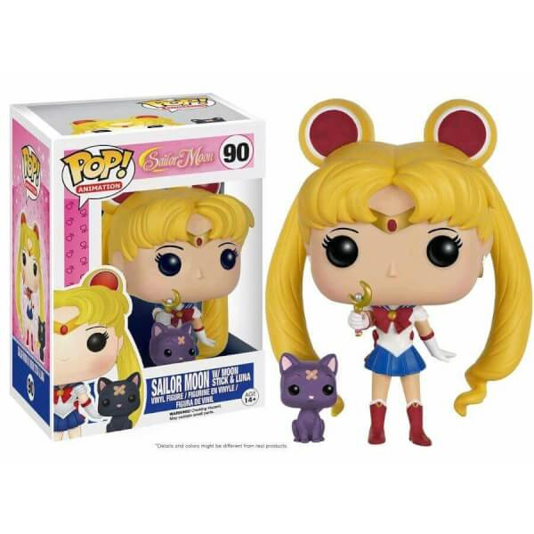 Funko Sailor Moon With Moon Stick & Luna Pop! Vinyl
