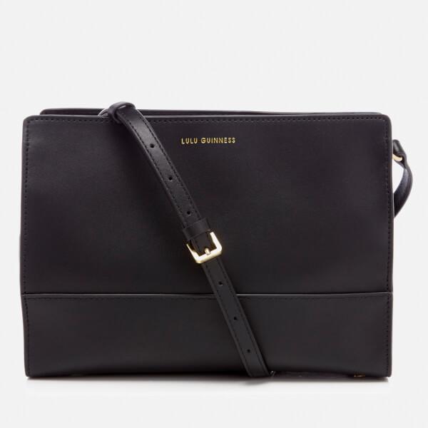 Lulu Guinness Women's Daphne Smooth Leather Cross Body Bag - Black