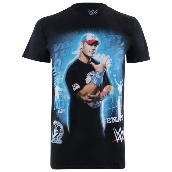 WWE Men's Can't See Me T-Shirt - Black