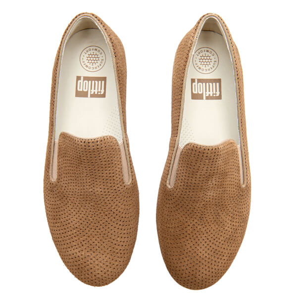 33f7d66fc00306 FitFlop Women s Superskate Perforated Suede Slip On Trainers - Soft Brown   Image 3