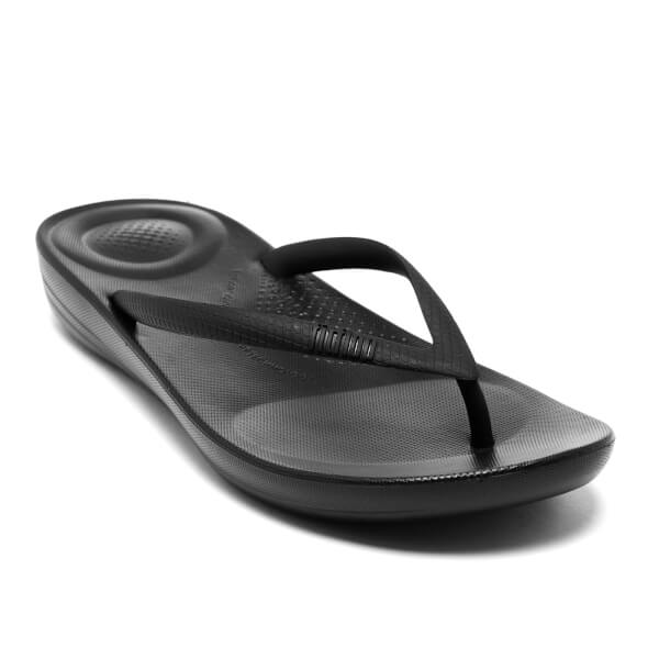 FitFlop IQUSHION ERGONOMIC FLIP FLOP ALL BLACK oFjzT17UyP