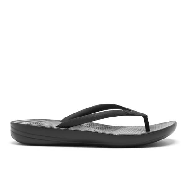 Fitflop Womens Iqushion Ergonomic Flip Flops - All Black -3522