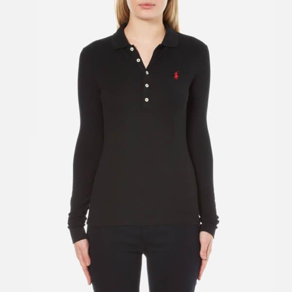 Polo ralph lauren women 39 s long sleeve julie polo shirt for Womans long sleeve shirts