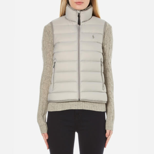 Polo Ralph Lauren Women's Lightweight Nylon Puffa Vest - Chrome Grey