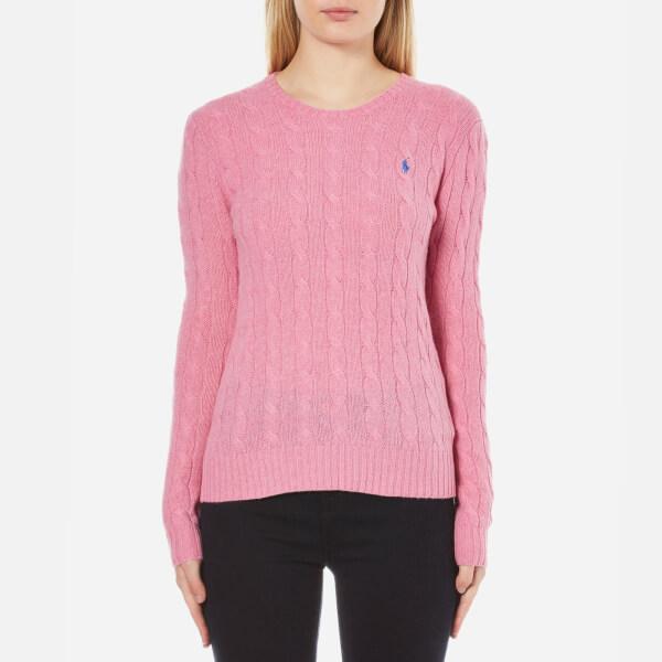 Polo Ralph Lauren Women's Julianna Crew Neck Jumper Cashmere Blend - Wesley Pink Heather