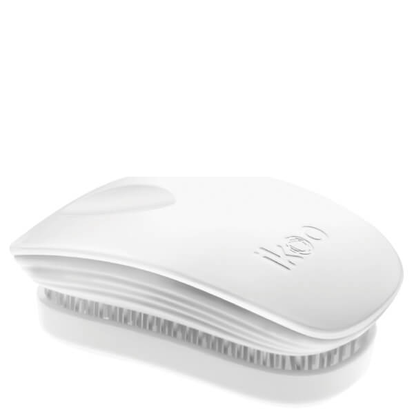 ikoo Pocket Detangling Hair Brush - White Classic